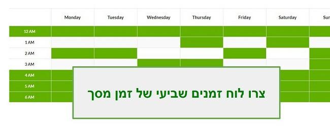 לוח הזמנים של Mobicip
