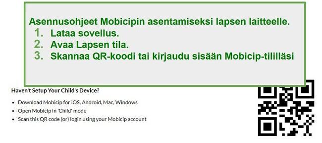 mobicip QR-koodi