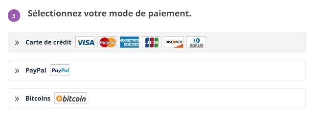 Comment acheter PrivateVPN - choisissez le mode de paiement