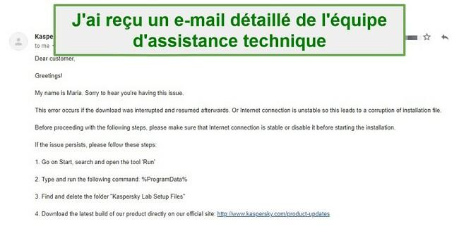 Assistance client Safe Kids