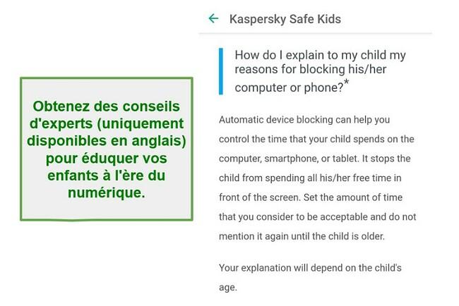 Conseils parentaux Safe Kids