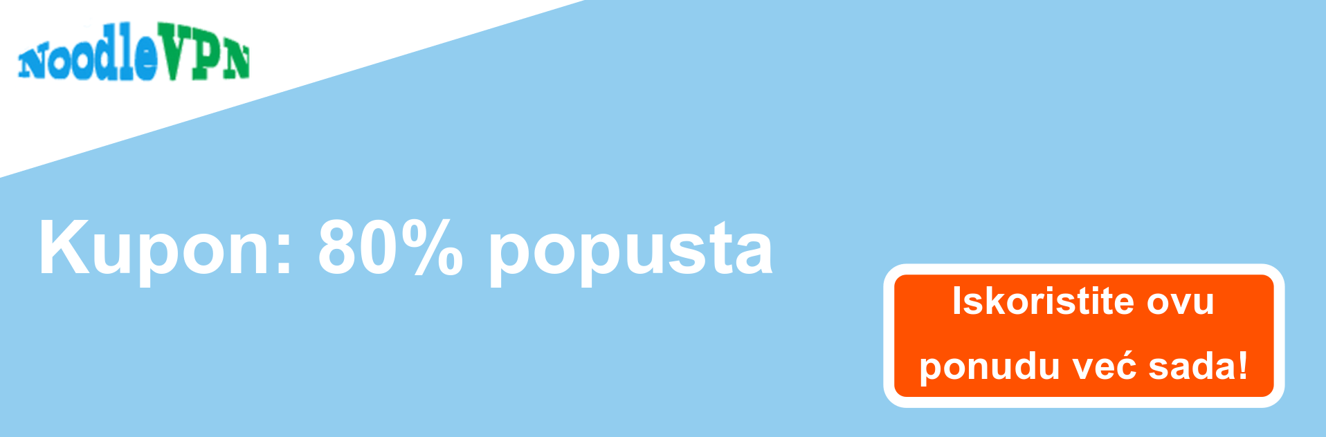 Banner kupona NoodleVPN - popust od 80%