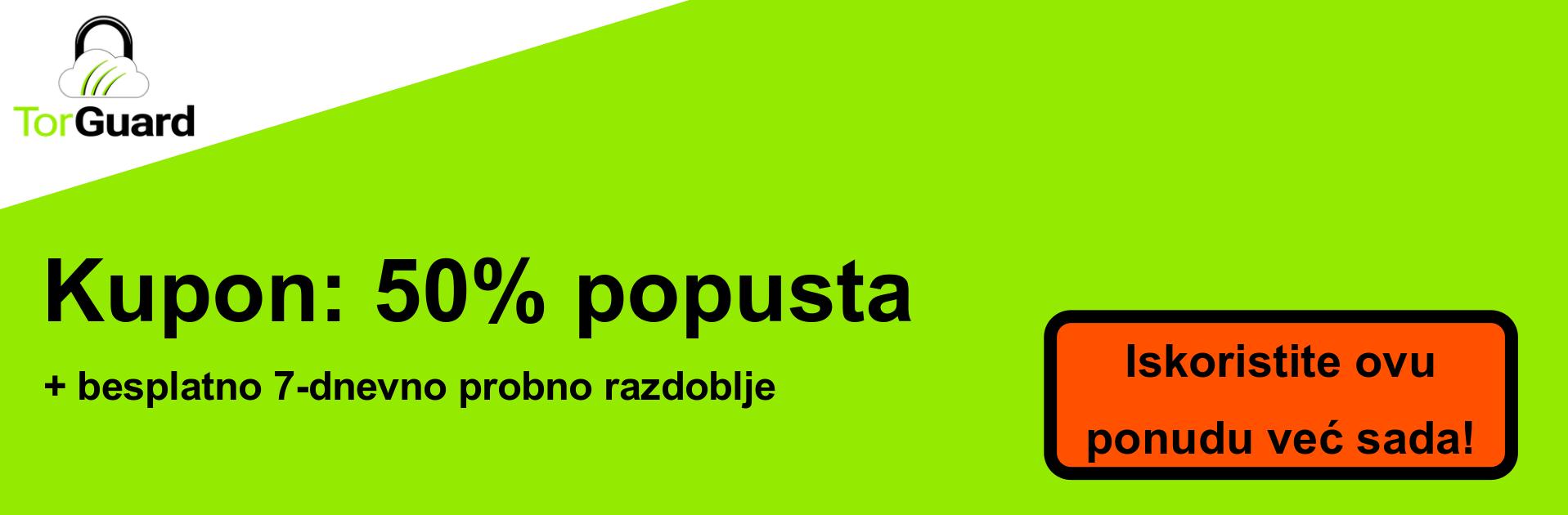 TorGuard VPN banner kupona - 50% popusta