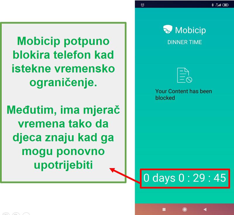 Mobicip blokira uređaj