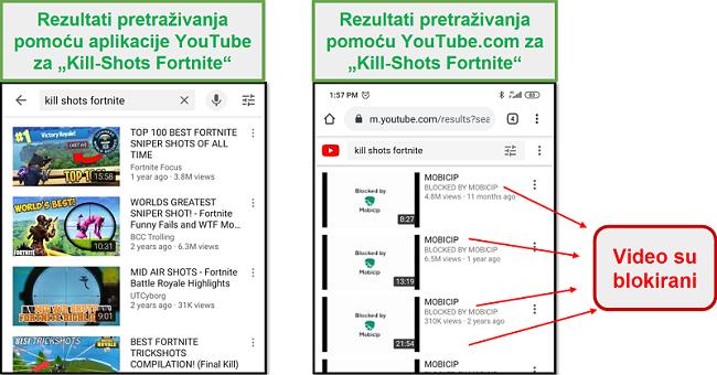 Mobicip blokira youtube