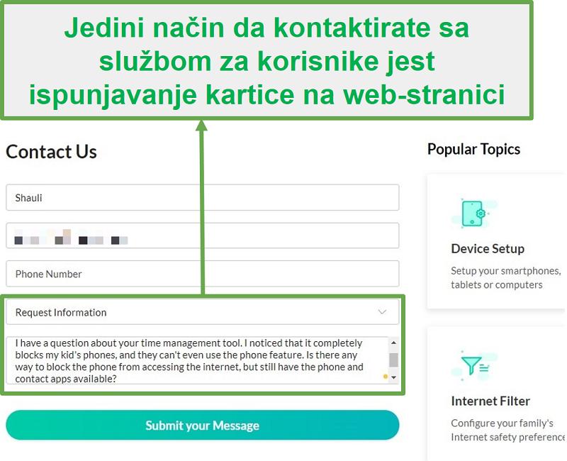 Mobicip služba za korisnike