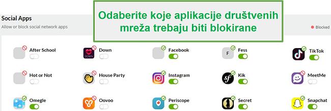 Mobicip nadzor društvenih mreža