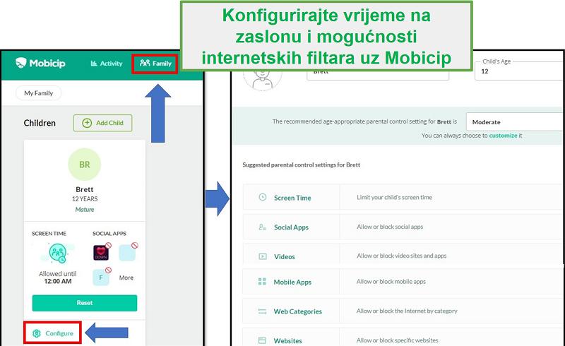 mobicip je postavio web filter