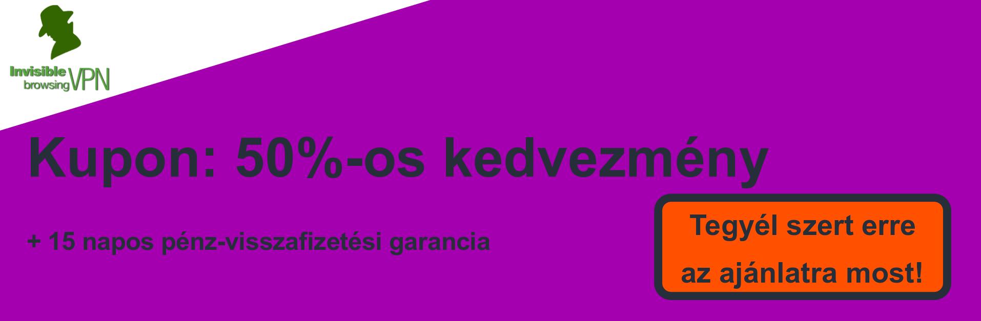 ibVPN szelvény banner - 50% kedvezmény