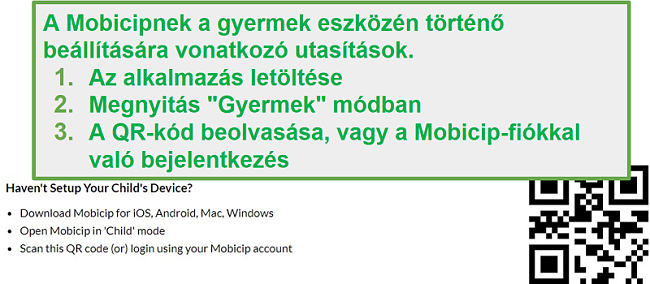 mobicip QR-kód