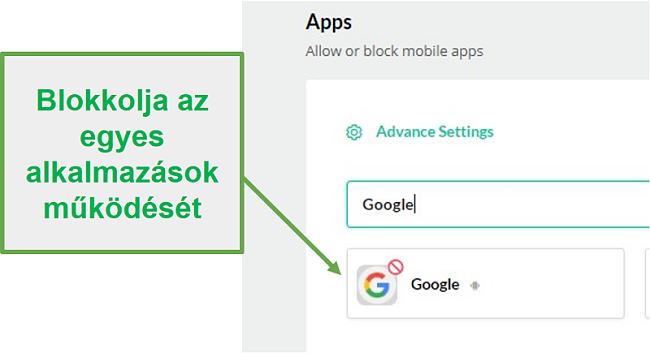 A Mobicip blokkolja az alkalmazásokat