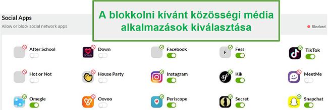 Mobicip közösségi média monitorozás