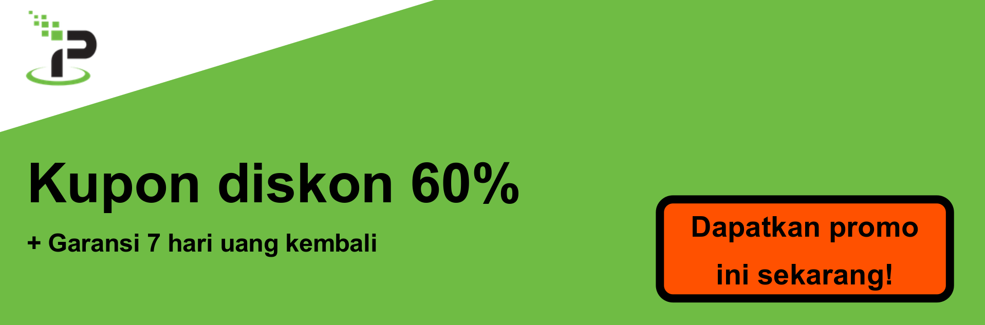 Spanduk kupon IPVanish - diskon 60%
