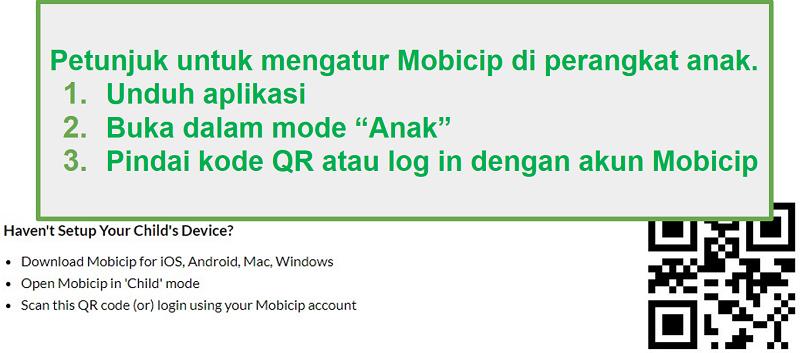 mobicip kode QR