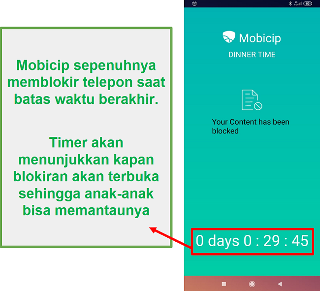 Mobicip memblokir perangkat