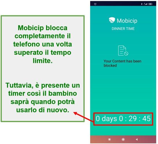 Mobicip blocca un dispositivo
