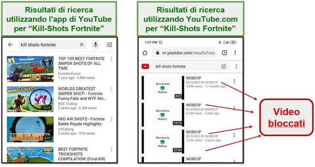 Mobicip blocca YouTube