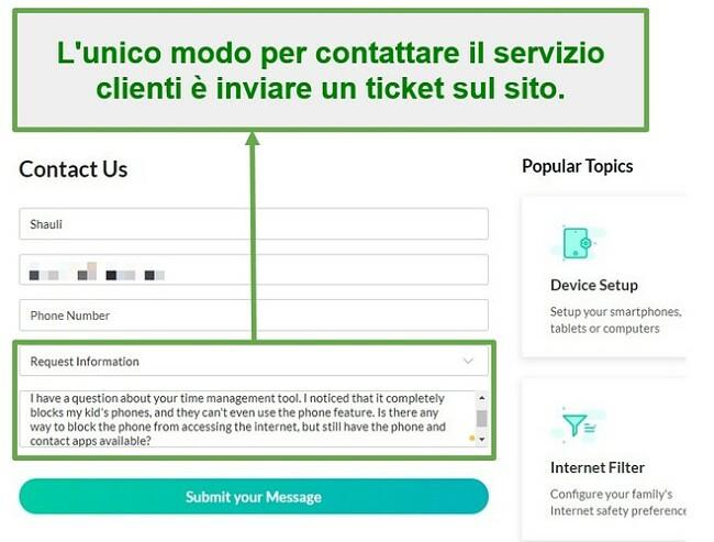 Mobicip customer service