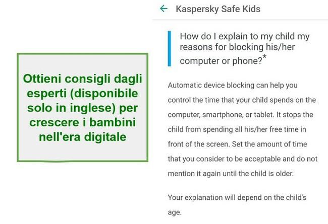 Consigli genitoriali Safe Kids
