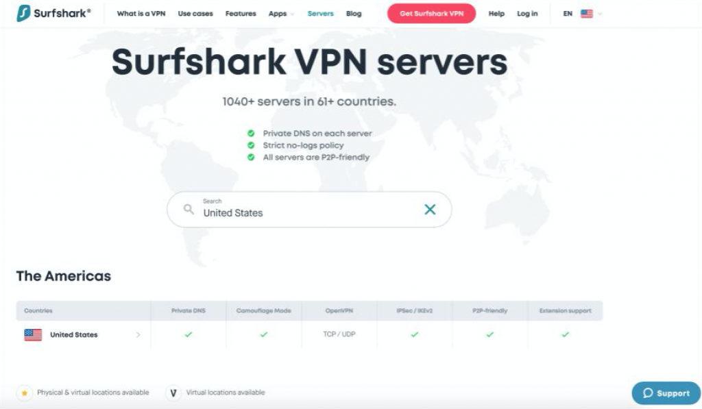 Screenshot of CyberGhost's vendor welcome page for its US VPN service with product information.