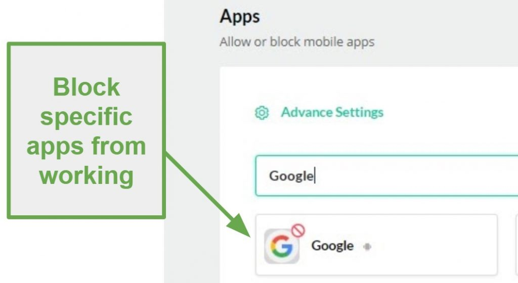Mobicip blocks apps