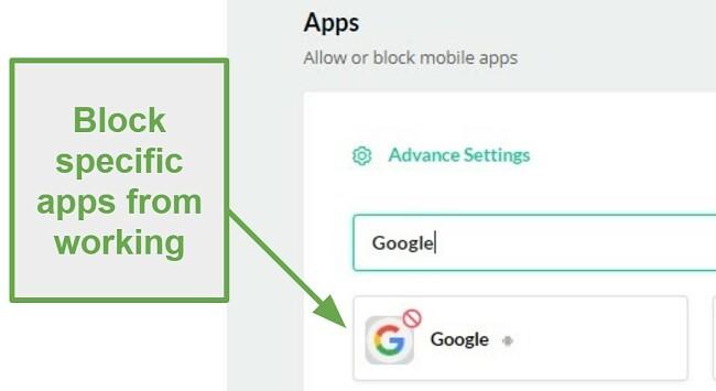Mobicip blocks apps