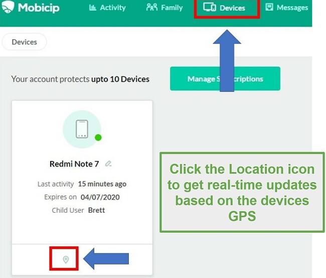 Mobiicip location