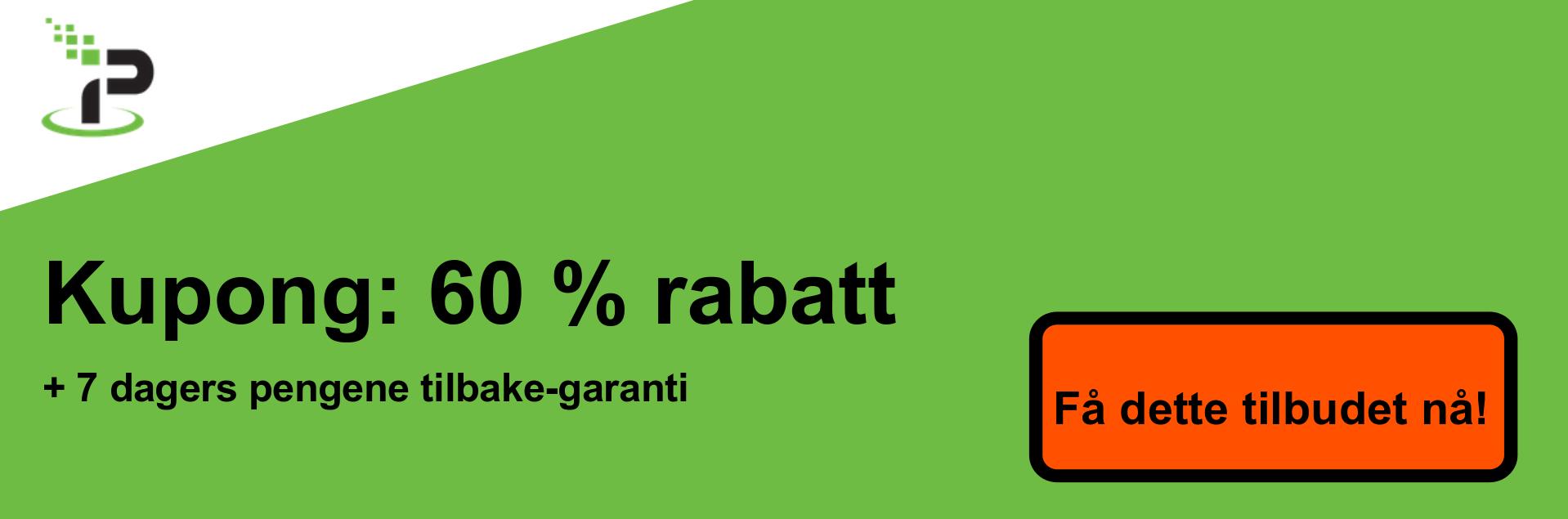 IPVanish kupongbanner - 60% avslag