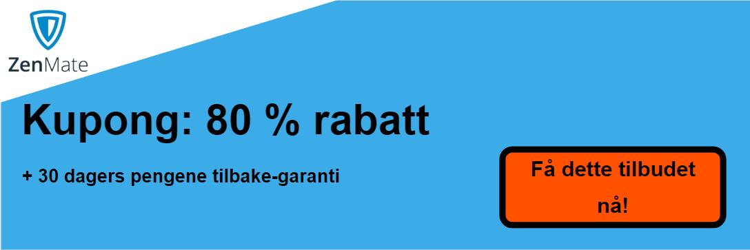 ZenMate kupong - 80% avslag