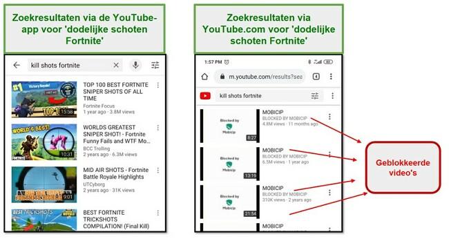 Mobicip blokkeert youtube