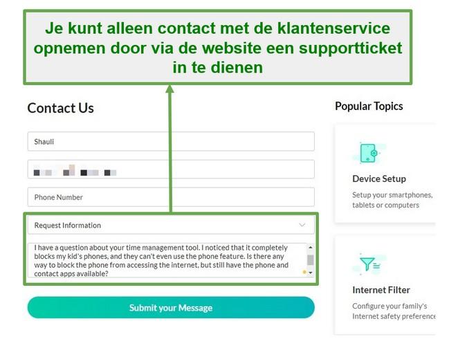 Mobicip klantenservice