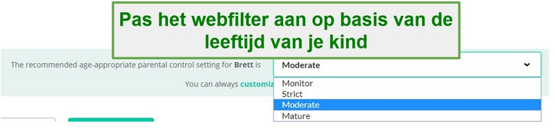 Mobicip-filteropties