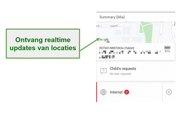 Safe Kids real-time tracking in realtime