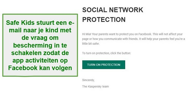 Safe Kids sociale netwerkbewaking
