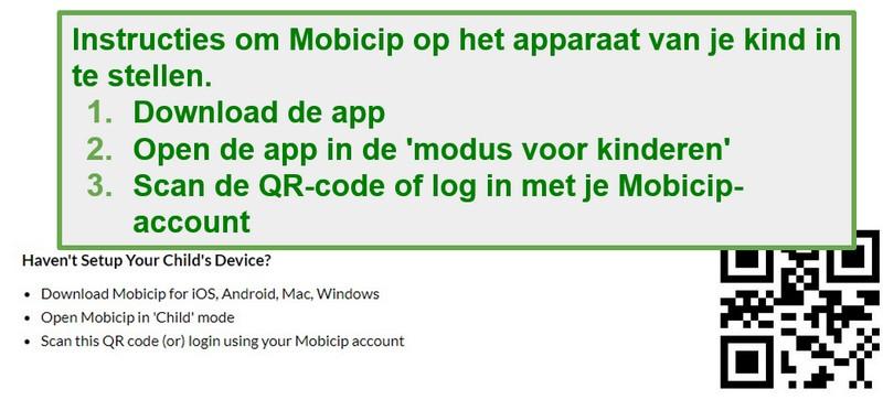 mobicip QR-code
