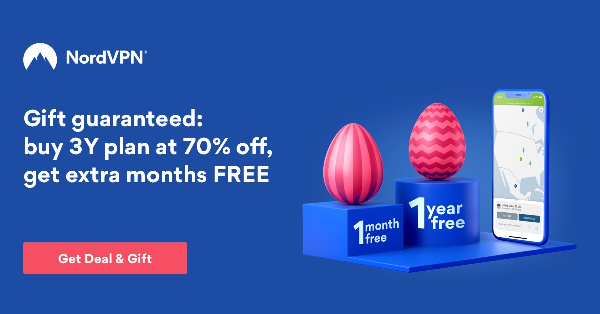 graphic of nordvpn's easter offer