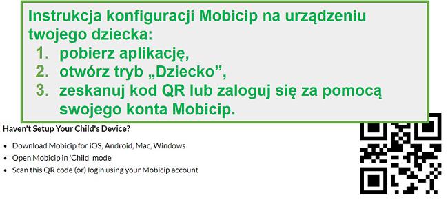 Code QR de mobicip