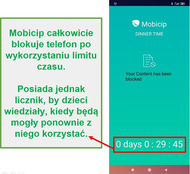 Mobicip blokuje urządzenie