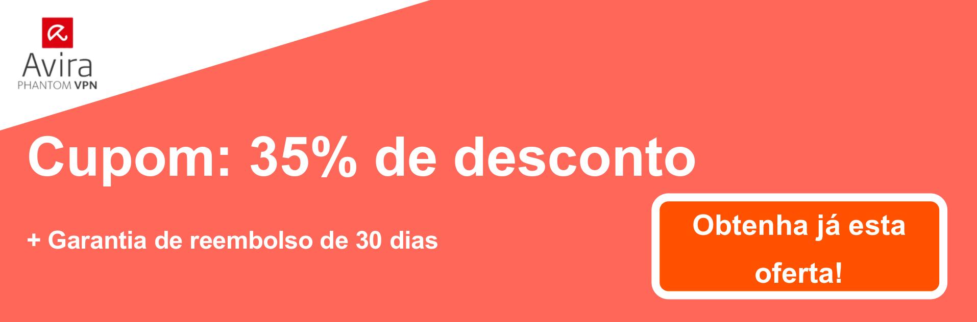 Banner do cupom AviraVPN - 35% de desconto