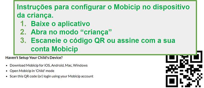 Mobicip cod QR