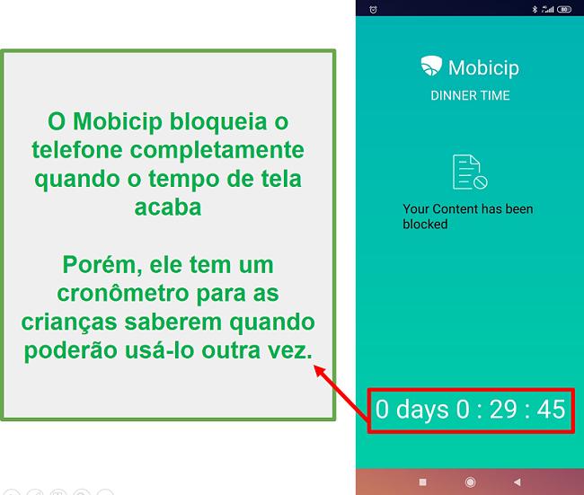 Mobicip está bloqueando um dispositivo