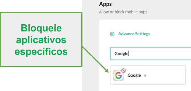 Aplicativos de blocos Mobicip