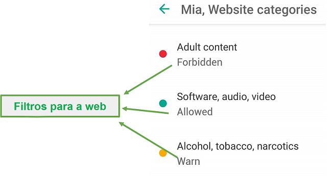 Safe Kids adapta filtros da web