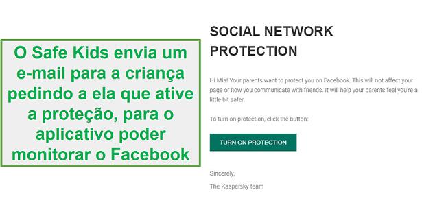 Monitorando redes sociais Safe Kids
