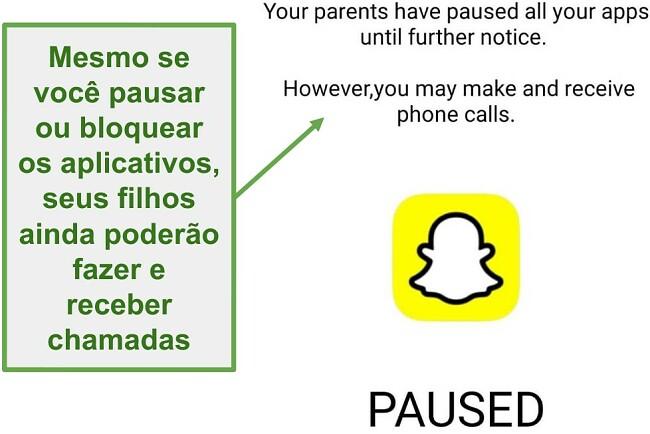 Captura de tela do WebWatcher pausando aplicativos