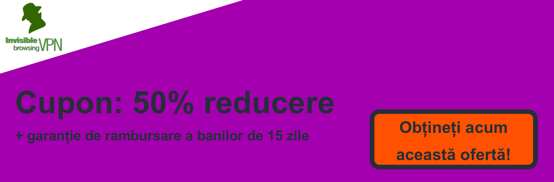 Banner cupon ibVPN - 50% reducere