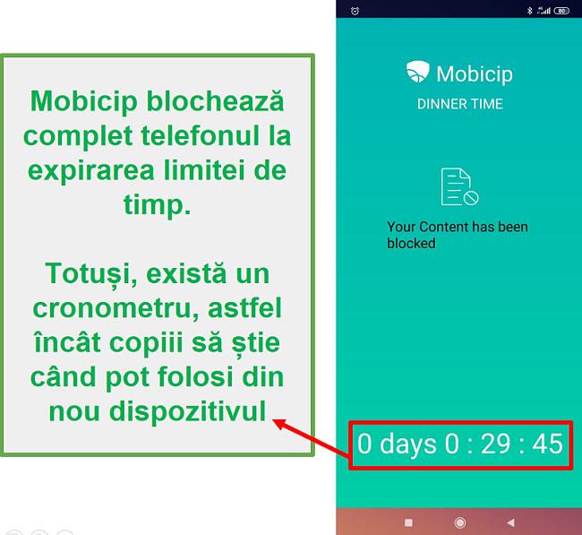 Mobicip blochează un dispozitiv