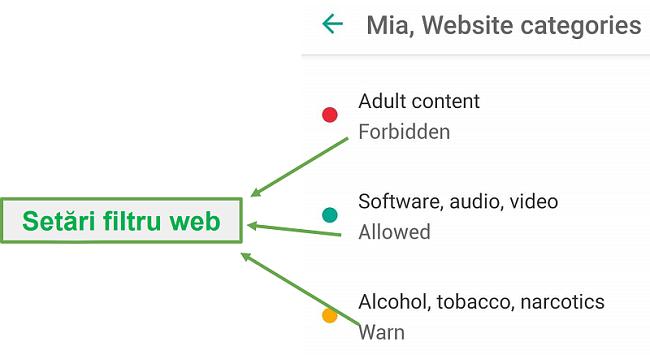 Safe Kids adaptează filtrele web