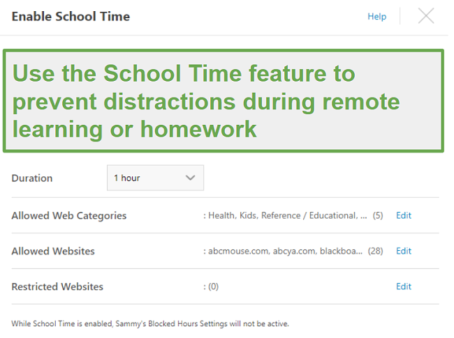 Remote School feature with Norton Family