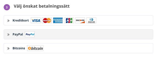 Skärmdump för att skapa ett PrivateVPN-konto med e-post och lösenord